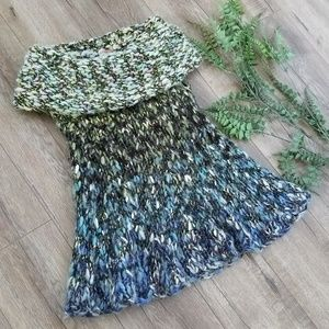 Free People Ombre Chunky Knit Cowl Tunic